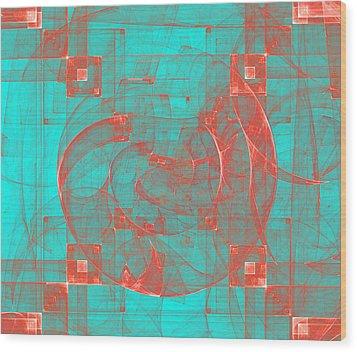 Copper Conception Wood Print