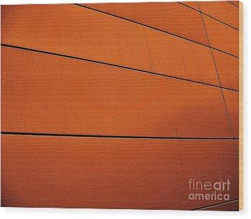 Copper Edge Wood Print by Marsha Heiken