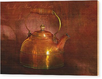 Copper Kettle Wood Print by James Bethanis