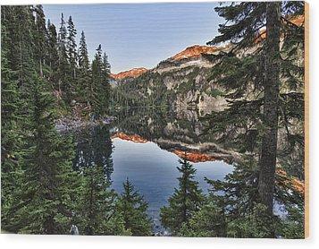 Copper Lake Wood Print
