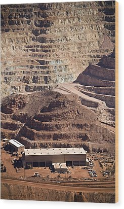 Copper Mine Buildings, Arizona, Usa Wood Print by Arno Massee
