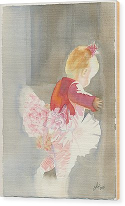 Cora In Strong Light 2 Wood Print by Lori Johnson