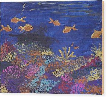 Coral Reef Garden Wood Print by Renate Pampel