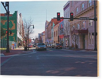Wood Print featuring the photograph Corcoran And Main  by Bob Whitt