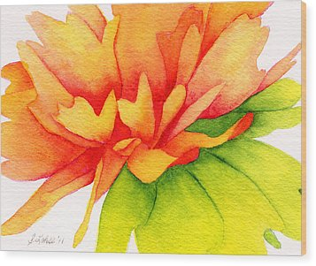 Coreopsis Wood Print by Sue Lohse