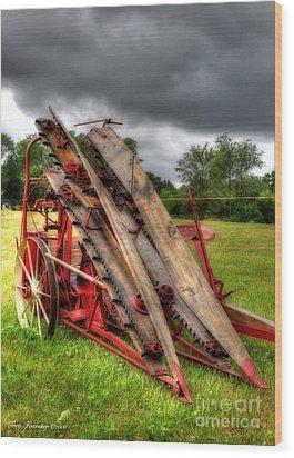 Corn Binder Wood Print