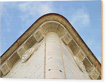 Corner Building Wood Print