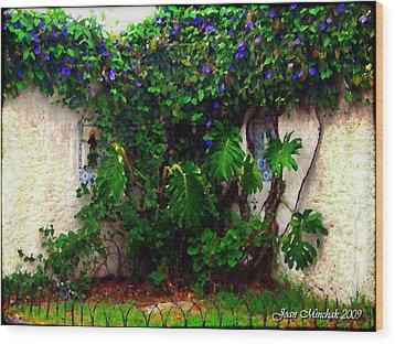 Corner In Uruguay Wood Print by Joan  Minchak