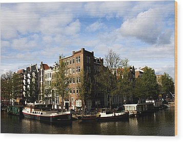 Corner Of Prinsengracht And Brouwersgracht Wood Print by Fabrizio Troiani