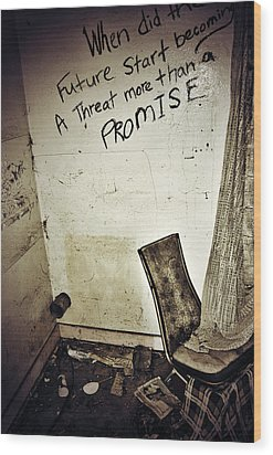 Corner Of Threat  Wood Print by Jerry Cordeiro