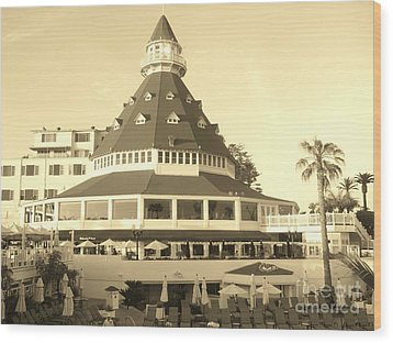 Wood Print featuring the photograph Coronado Hotel by Jasna Gopic