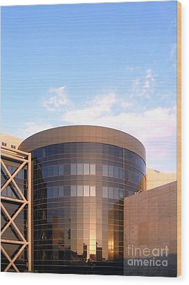 Corporate Architectural Design Wood Print by Yali Shi