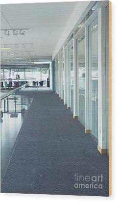 Corridor In A Modern Office Wood Print by Iain Sarjeant