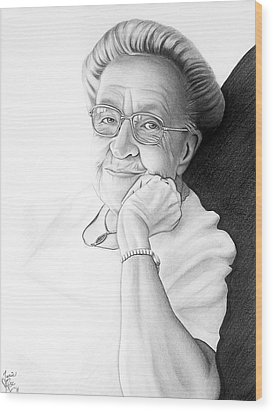 Corrie Ten Boom Wood Print by Danielle R T Haney