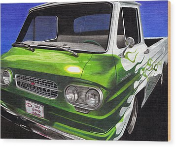 Corvair 95 Loadside Wood Print by Annie Nelson