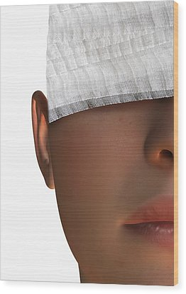 Cosmetic Surgery, Conceptual Artwork Wood Print by Victor Habbick Visions