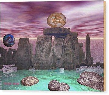 Cosmic Dance 3 Wood Print