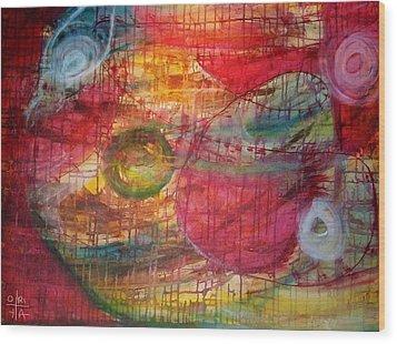 Cosmic Eggs Wood Print by Oriya Rae