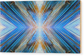 Wood Print featuring the photograph Cosmic Rays by Sandro Rossi