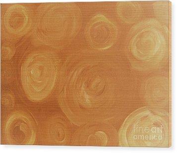 Cosmic Swirls Beige Wood Print by Jeannie Atwater Jordan Allen