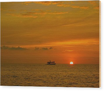 Wood Print featuring the photograph Costa Rica Sunset by Eric Tressler
