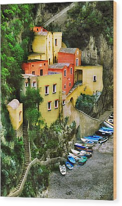 Costeria Amalfitano Wood Print by John Galbo