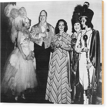 Costume Party At San Simeon. Irene Wood Print by Everett
