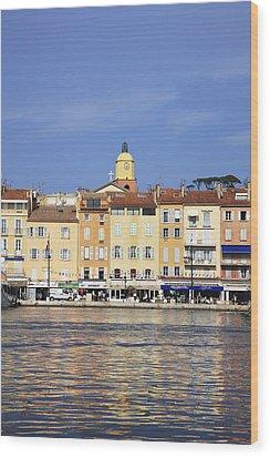 Cote D'azur, St-tropez, France Wood Print by Hiroshi Higuchi