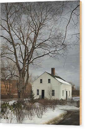Cottage By The Mill Wood Print by Robin-Lee Vieira