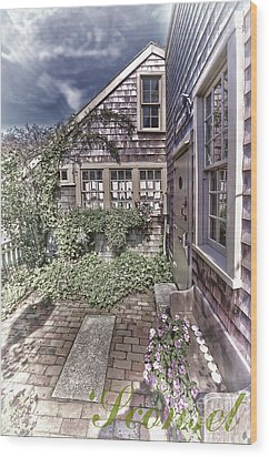 Wood Print featuring the photograph Cottage Garden - 'sconset Nantucket by Jack Torcello