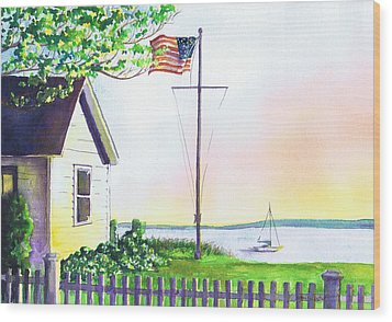 Cottage Orient Ny Wood Print by Susan Herbst