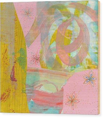 Cotton Candy Wood Print by Alexandra Sheldon