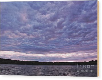 Cotton Candy Clouds Wood Print by Jill Hyland