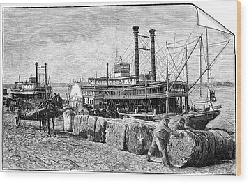 Cotton Industry, Early 20th Century Wood Print by