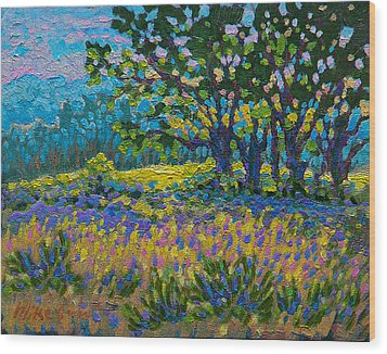 Cottonwood Meadow Wood Print