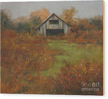 Country Autumn Wood Print by Linda Eades Blackburn