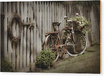Wood Print featuring the photograph Country Bike by Michelle Joseph-Long