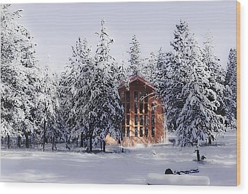 Wood Print featuring the photograph Country Christmas by Janie Johnson