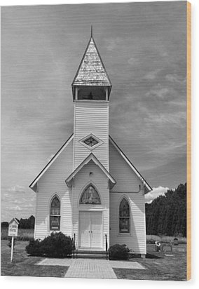 Country Church Wood Print by Steven Ainsworth