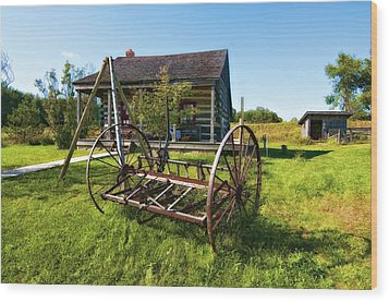 Country Classic Oil Wood Print by Steve Harrington
