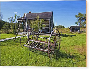 Country Classic Paint Filter Wood Print by Steve Harrington