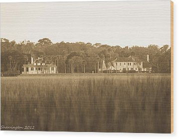Wood Print featuring the photograph Country Estate by Shannon Harrington