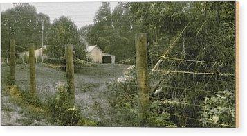 Country Farm Wood Print