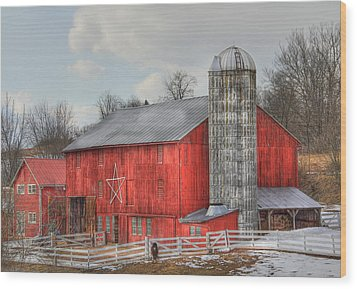 Country Feeling Wood Print by Sharon Batdorf
