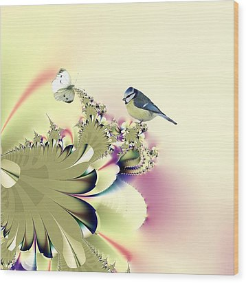 Country Garden Wood Print by Sharon Lisa Clarke