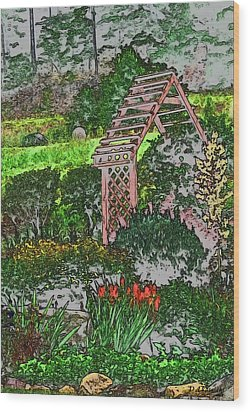 Country Gardens Wood Print by Debra     Vatalaro