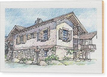 Country Home Wood Print by Andrew Drozdowicz