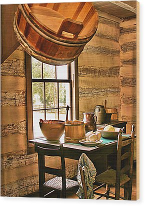 Wood Print featuring the digital art Country Kitchen by Mary Almond