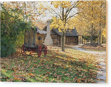 Country Living Wood Print by Franklin Conour
