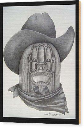 Country Radio Wood Print by Diana Lehr